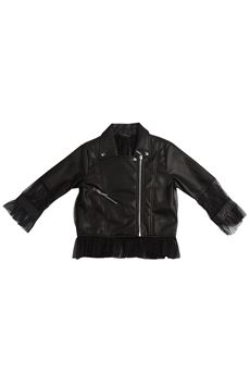 Faux leather jacket with tulle MARC ELLIS | 13 | GMEOW181UN
