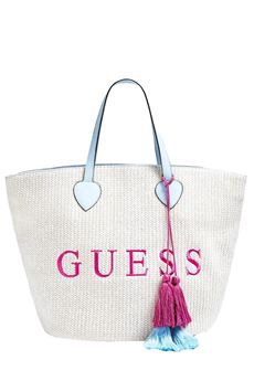 Beach bag embroidery logo GUESS | 31 | E92Z13UN