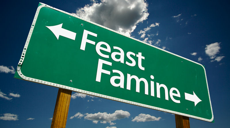 Earnings reports cause feast or famine