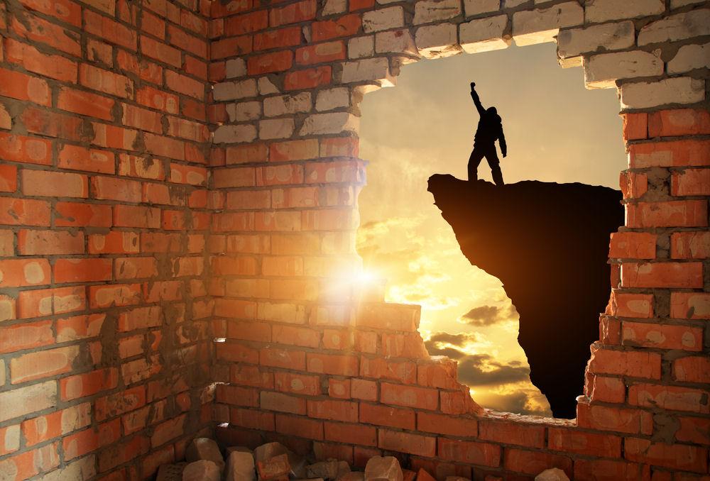 Break in the wall