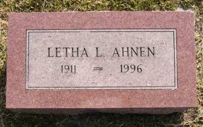 AHNEN, LETHA L. - Adair County, Iowa | LETHA L. AHNEN