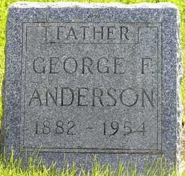 ANDERSON, GEORGE F. - Adair County, Iowa   GEORGE F. ANDERSON