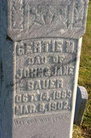 BAUER, GERTIE M. - Adair County, Iowa | GERTIE M. BAUER