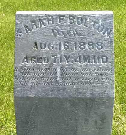 BOLTON, SARAH F. - Adair County, Iowa | SARAH F. BOLTON