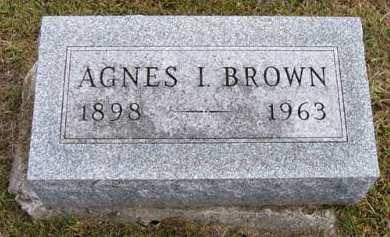 BROWN, AGNES I. - Adair County, Iowa | AGNES I. BROWN