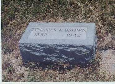 BROWN, ITHAMER WILLIAMS - Adair County, Iowa   ITHAMER WILLIAMS BROWN