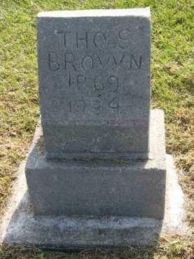 BROWN, THOMAS S. - Adair County, Iowa | THOMAS S. BROWN