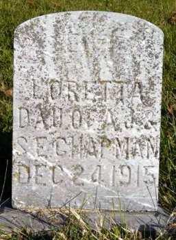 CHAPMAN, ALICE LORETTA - Adair County, Iowa | ALICE LORETTA CHAPMAN