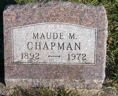 CHAPMAN, MAUDE M. - Adair County, Iowa | MAUDE M. CHAPMAN