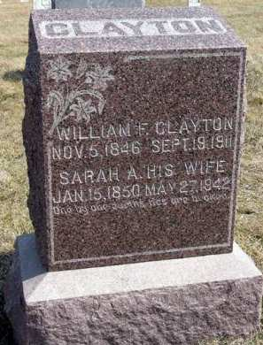 CLAYTON, WILLIAM F. - Adair County, Iowa | WILLIAM F. CLAYTON