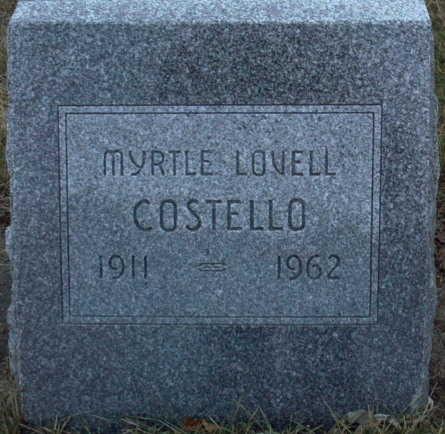 COSTELLO, MYRTLE  LOVELL - Adair County, Iowa | MYRTLE  LOVELL COSTELLO
