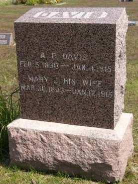 DAVIS, MARY J. - Adair County, Iowa   MARY J. DAVIS
