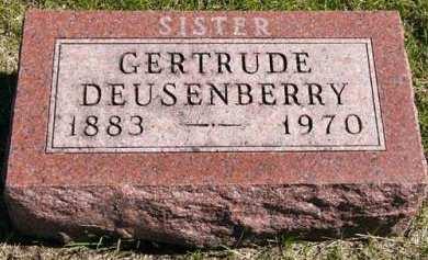 DEUSENBERRY, GERTRUDE - Adair County, Iowa | GERTRUDE DEUSENBERRY