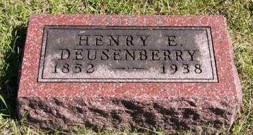 DEUSENBERRY, HENRY E. - Adair County, Iowa | HENRY E. DEUSENBERRY