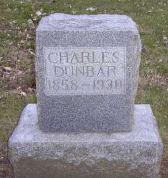 DUNBAR, CHARLES - Adair County, Iowa | CHARLES DUNBAR
