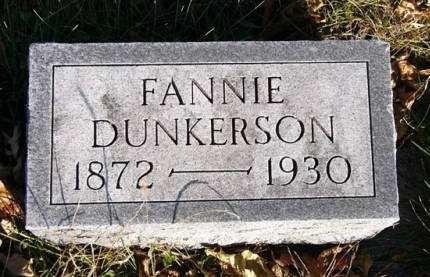 DUNKERSON, FANNIE - Adair County, Iowa | FANNIE DUNKERSON