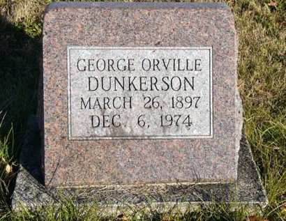 DUNKERSON, GEORGE ORVILLE - Adair County, Iowa   GEORGE ORVILLE DUNKERSON
