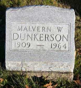 DUNKERSON, MALVERN W. - Adair County, Iowa   MALVERN W. DUNKERSON