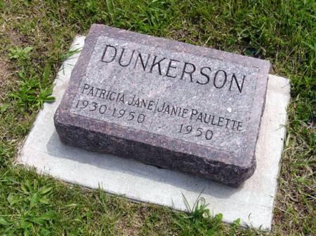 DUNKERSON, PATRICIA JANE - Adair County, Iowa   PATRICIA JANE DUNKERSON