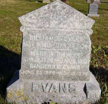 EVANS, MARY A. - Adair County, Iowa | MARY A. EVANS