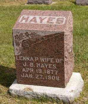 HAYES, LENNA P. - Adair County, Iowa | LENNA P. HAYES