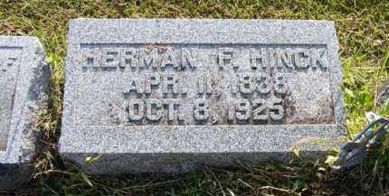 HINCK, HERMAN F. - Adair County, Iowa   HERMAN F. HINCK