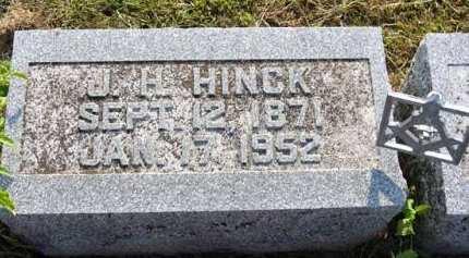 HINCK, J.H. - Adair County, Iowa | J.H. HINCK