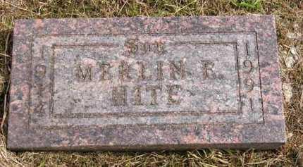 HITE, MERLIN E. - Adair County, Iowa | MERLIN E. HITE