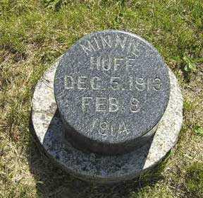 HUFF, MINNIE - Adair County, Iowa   MINNIE HUFF