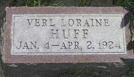 HUFF, VERYL LORAINE - Adair County, Iowa | VERYL LORAINE HUFF