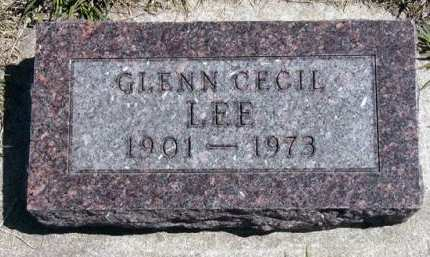 LEE, GLENN CECIL - Adair County, Iowa | GLENN CECIL LEE