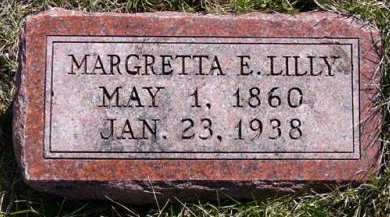 LILLY, MARGRETTA E. - Adair County, Iowa   MARGRETTA E. LILLY