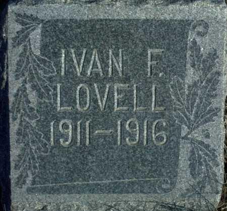 LOVELL, IVAN F. - Adair County, Iowa | IVAN F. LOVELL