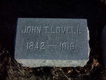 LOVELL, JOHN  T. - Adair County, Iowa | JOHN  T. LOVELL