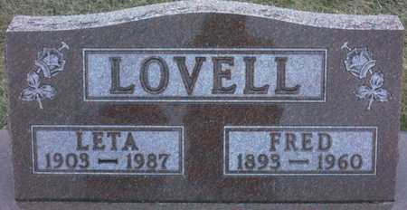 LOVELL, FRED - Adair County, Iowa | FRED LOVELL