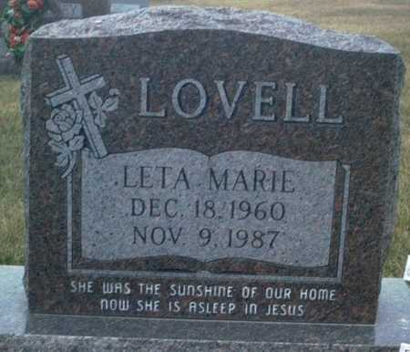 LOVELL, LETA MARIE - Adair County, Iowa | LETA MARIE LOVELL