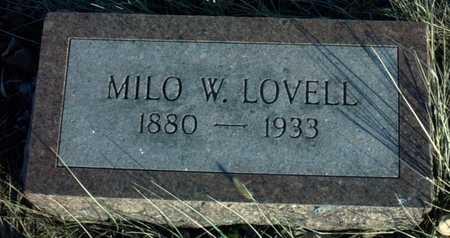 LOVELL, MILO W. - Adair County, Iowa | MILO W. LOVELL