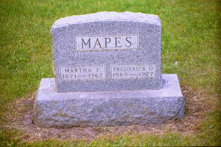 MAPES, MARTHA FRANCIS - Adair County, Iowa | MARTHA FRANCIS MAPES