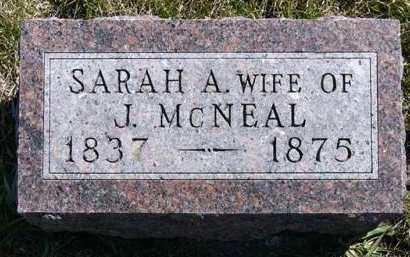 MCNEAL, SARAH A. - Adair County, Iowa   SARAH A. MCNEAL