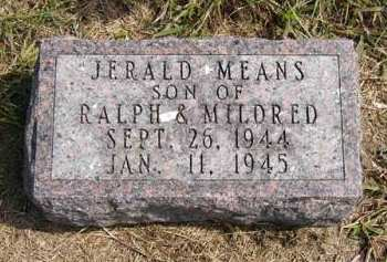 MEANS, JERALD - Adair County, Iowa | JERALD MEANS