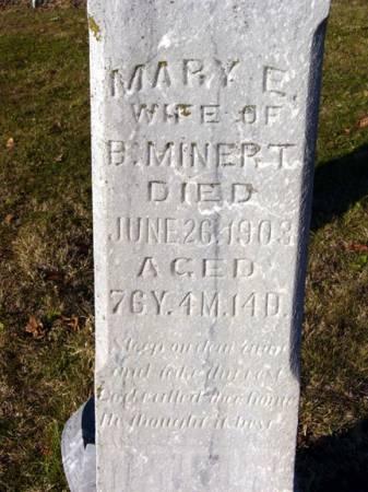 MINERT, MARY E. - Adair County, Iowa   MARY E. MINERT