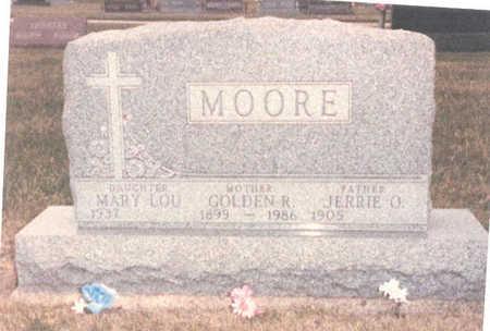 MOORE, JERRY O. - Adair County, Iowa   JERRY O. MOORE