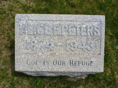 PETERS, ALICE E - Adair County, Iowa | ALICE E PETERS