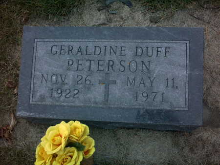 PETERSON, GERALDINE  DUFF - Adair County, Iowa | GERALDINE  DUFF PETERSON