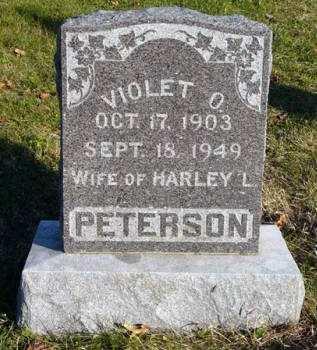 PETERSON, VIOLET O. - Adair County, Iowa | VIOLET O. PETERSON