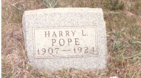 POPE, HARRY  LLOYD - Adair County, Iowa   HARRY  LLOYD POPE