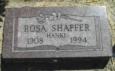 HANKE SHAFFER, ROSA M. - Adair County, Iowa | ROSA M. HANKE SHAFFER