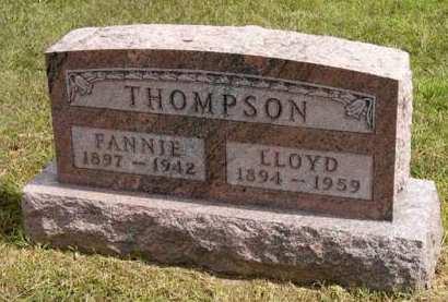 THOMPSON, FANNIE - Adair County, Iowa | FANNIE THOMPSON