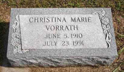 VORRATH, CHRISTINA MARIE - Adair County, Iowa | CHRISTINA MARIE VORRATH