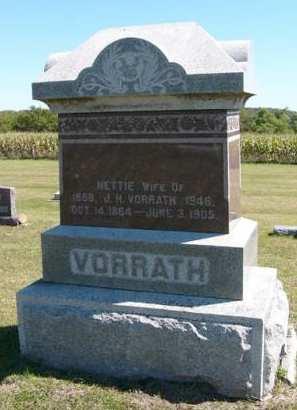 VORRATH, NETTIE - Adair County, Iowa | NETTIE VORRATH